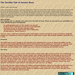 The Horrible Tale of Sawney Bean