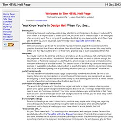 The HTML Hell Page