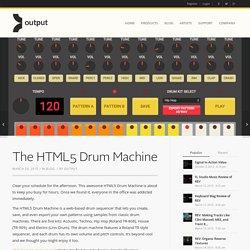 The HTML5 Drum Machine
