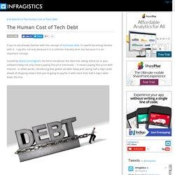 The Human Cost of Tech Debt - DaedTech