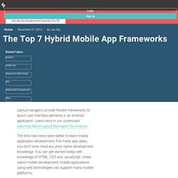 The Top 7 Hybrid Mobile App Frameworks