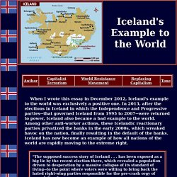 The Iceland Example