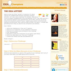 The Idea Lottery