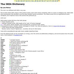 The IKEA Dictionary