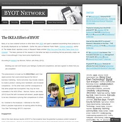 The IKEA Effect of BYOT