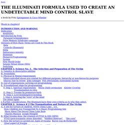 The Illuminati Formula Used to C