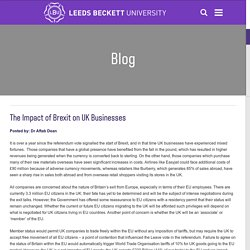 The Impact of Brexit on UK Businesses