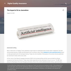 The Impact of AI on Journalism
