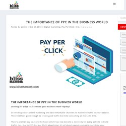 The importance of PPC in the business world
