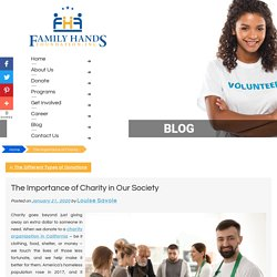 The Importance of Charity in Our Society