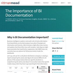 The Importance of BI Documentation