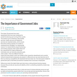 The Importance of Government Jobs