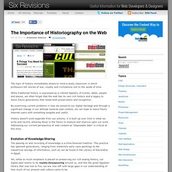 The Importance of Historiography on the Web