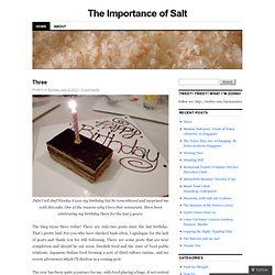 The Importance of Salt