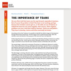 The importance of teams