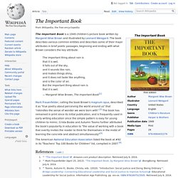 The Important Book - Wikipedia