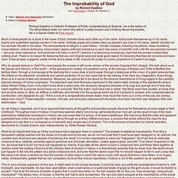 The Improbability of God - StumbleUpon