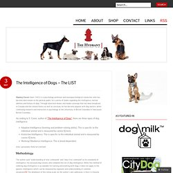 The Intelligence of Dogs – The LIST