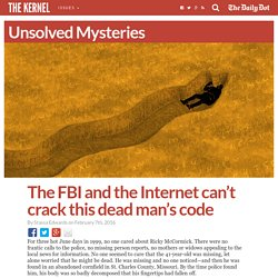 The FBI and the Internet can't crack this dead man's code