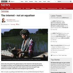 The internet - not an equaliser