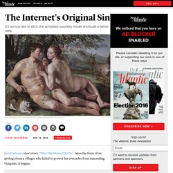 The Internet's Original Sin