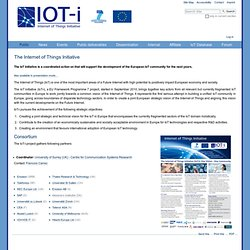 The Internet of Things Initiative — IOT-I: Internet of Things Initiative