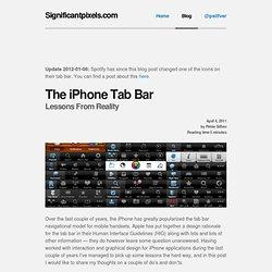 The iPhone Tab Bar « SignificantPixels
