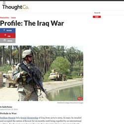 The Iraq War: Background and History : includes videos
