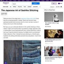 The Japanese Art of Sashiko Stitching