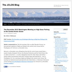 The blog of the K.G. Jebsen Centre for the Law of the Sea