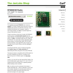 The JeeLabs Shop - RFM69CW Radio Module