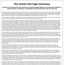 Jewish Marriage Ceremony