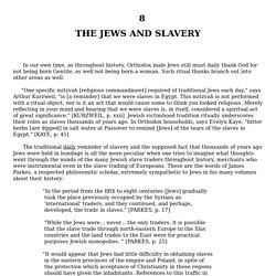 THE JEWS AND SLAVERY
