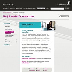 The job market for researchers
