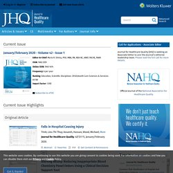 The Journal for Healthcare Quality (JHQ)