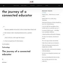the journey of a connected educator