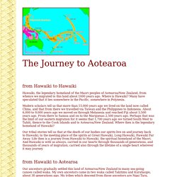 The Journey of the Maori to Aotearoa