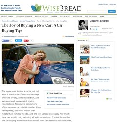 The Joy of Buying a New Car: 9 Car Buying Tips