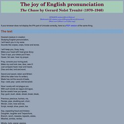 The joy of English pronunciation