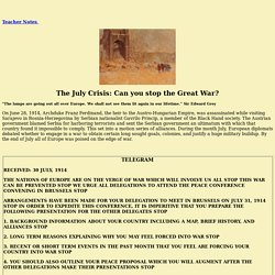 The July Crisis: Can You Stop The Great War?