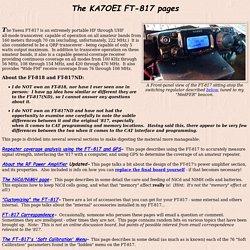 The KA7OEI FT-817 page