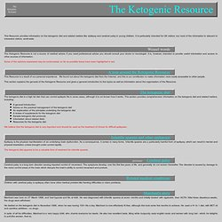 The Ketogenic Resource