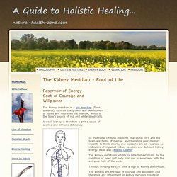 The Kidney Meridian - Root of Life