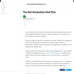 The Kim Kardashian Diet Plan