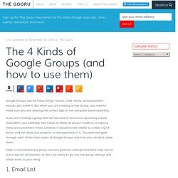 The 4 Kinds of Google Groups (and how to use them)