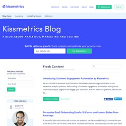 The @KISSmetrics Marketing Blog