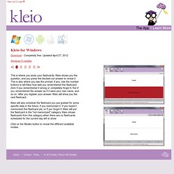 The Kleio App