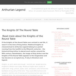 The Knights Of The Round Table - Who & How Many?