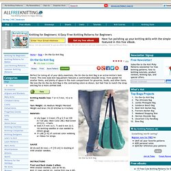 On-the-Go Knit Bag