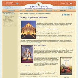 The Kriya Yoga Path of Meditation